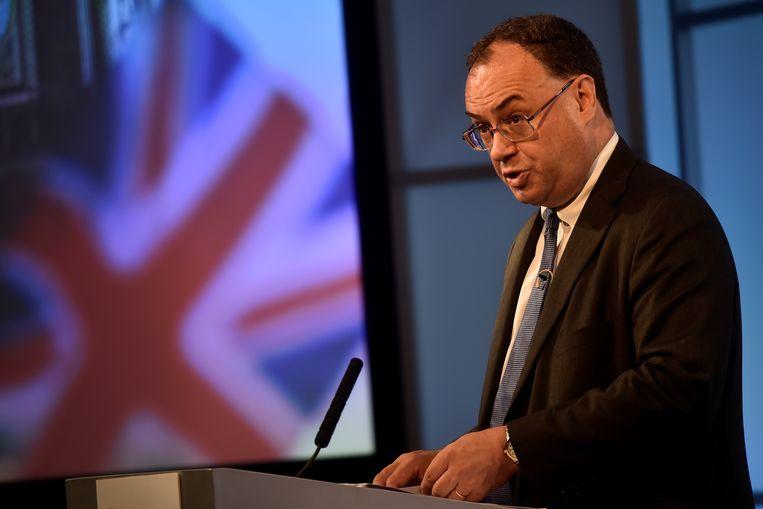 Andrew Bailey van de Bank of England, die van plan is de steunmaatregelen af te bouwen. Beeld REUTERS