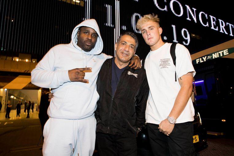 Links rapper Baka Not Nice, rechts YouTuber met 12 miljoen volgers Jake Paul.  Beeld Eva Roefs