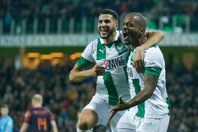 Charlison Benschop scoorde namens FC Groningen tegen zijn oude club RKC.