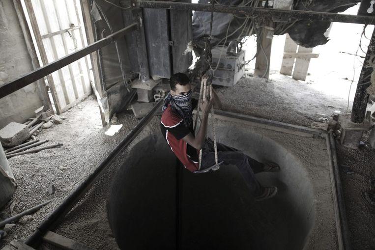 Smokkeltunnel tussen Gaza en de Sinaï. Beeld epa