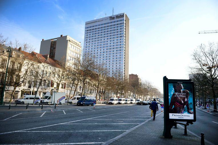 'The Hotel' aan de Louizawijk waar Obama in 2014 verbleef. Beeld BELGA
