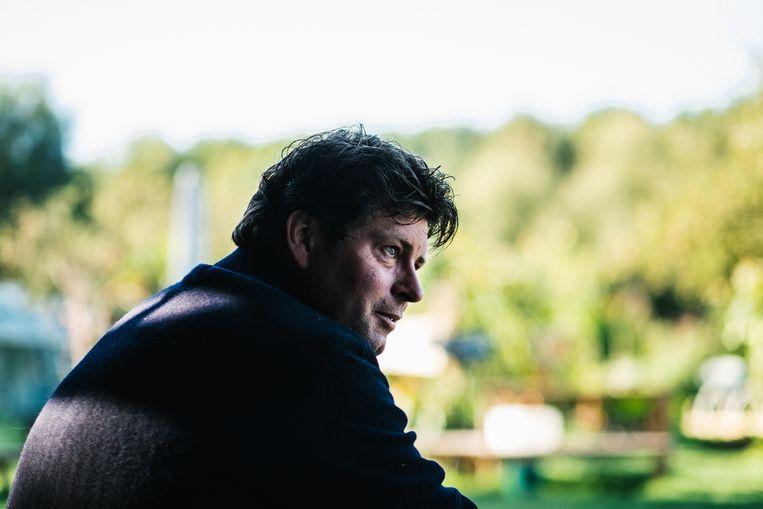 Wim Lybaert in de setting van het tv-programma 'Het Goeie Leven'. Beeld Wouter Van Vooren