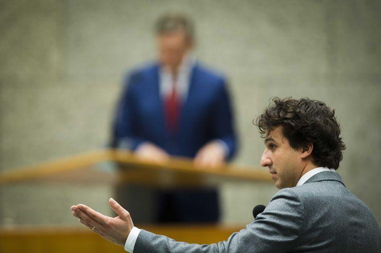 Klaver tijdens het debat over de regeringsverklaring. Beeld anp