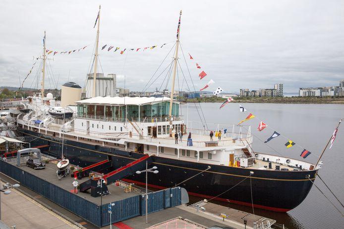 De Royal Yacht HMY Britannia die van 1953 tot 1997 dienst deed.