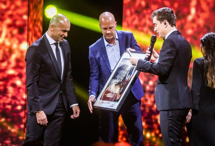 Roberto Martínez met Jordi Cruijff, in 2019 op de Gouden Schoen.