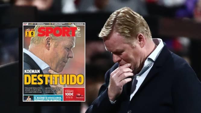 """""""Laporta heeft hem nooit vertrouwd"""": ontslag Koeman druk besproken in Spaanse media, ook naam van Martínez valt weer"""
