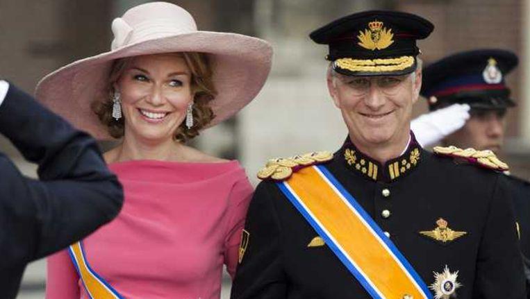 Prins Filip met prinses Mathilde.