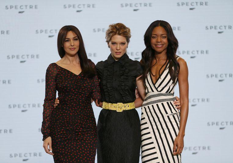 Monica Bellucci, Lea Seydoux en Naomie Harris. Beeld REUTERS