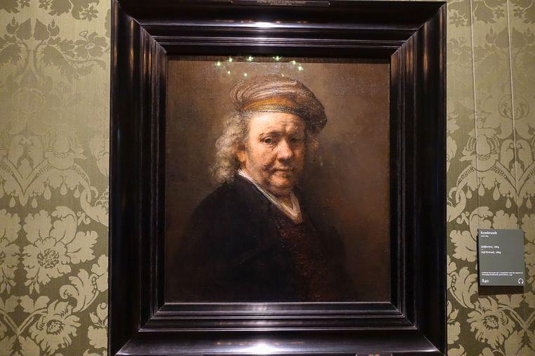 Een zelfportret van Rembrandt in het Mauritshuis Beeld