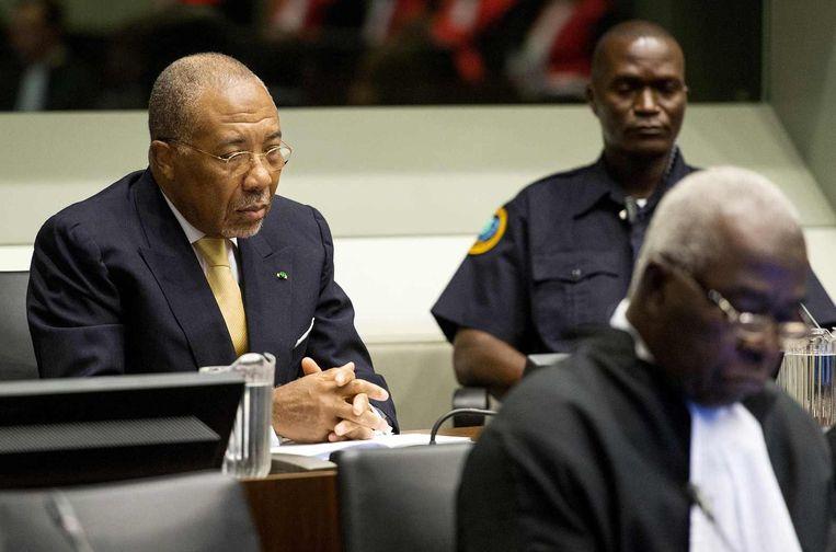 De Liberiaanse ex-president Charles Taylor werd veroordeeld tot 50 jaar. Hij moet zijn straf uitzitten in Groot-Brittannië. Beeld reuters