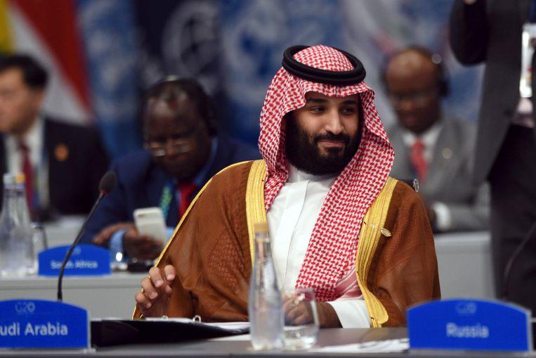 Kroonprins Mohammed bin Salman van Saoedi-Arabië. Beeld AP