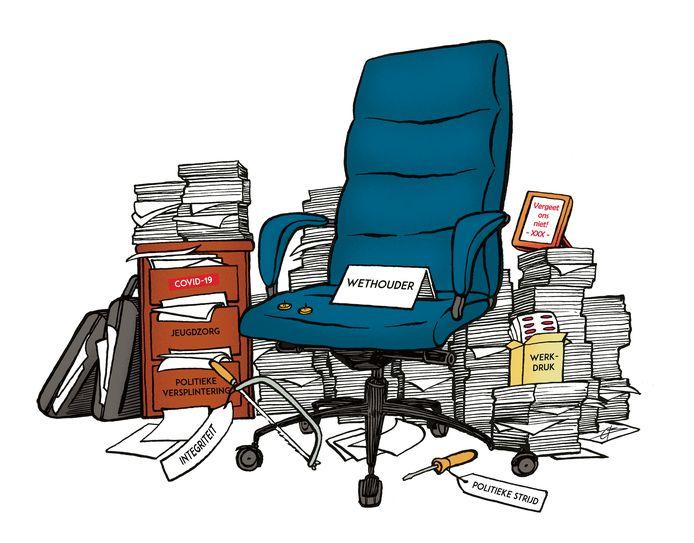 Wethouders staan onder toenemende druk, constateert de wethoudersvereniging.