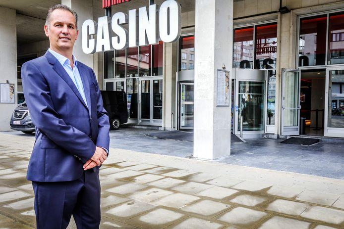 Jurgen De Munck aan het casino van Oostende.