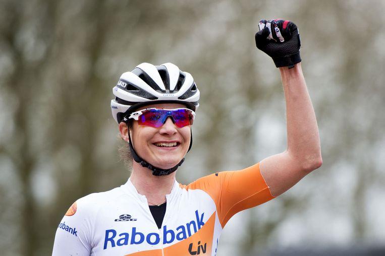 Marianne Vos in het tenue van Rabobank-Liv Beeld anp