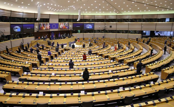 Het Europees Parlement.