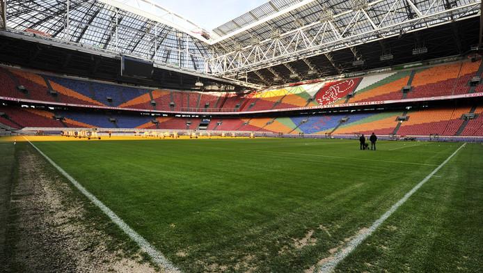 Het grasveld in de Arena.