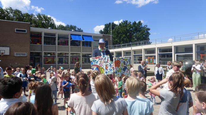 Van Vorstenbosch bij het afscheid op De Baarzen in Vught.