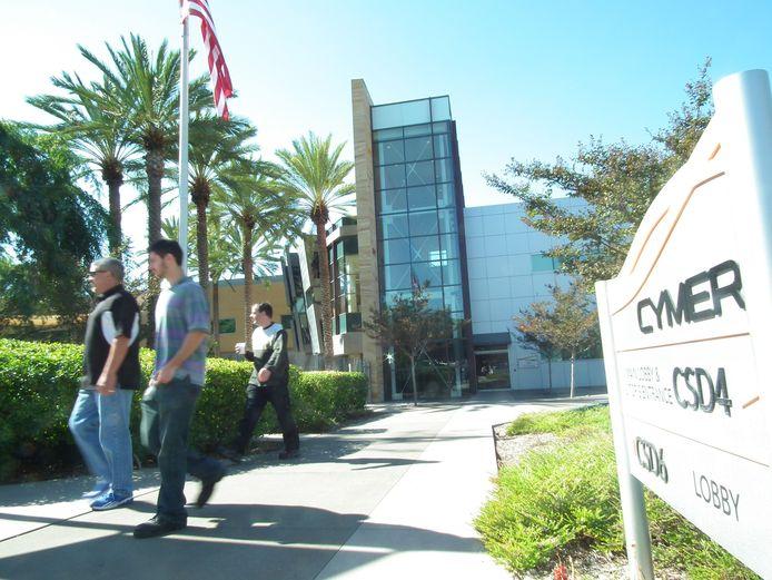 Het hoofdkantoor van ASML Cymer in San Diego in Californië.