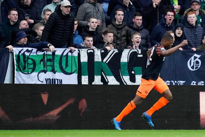 Op zondag 8 maart was er nog gewoon publiek bij FCGroningen - PSV en was Denzel Dumfries matchwinnaar.