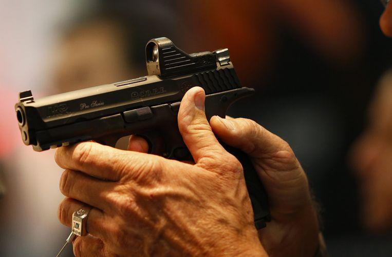 Een pistool van Smith & Wesson. Beeld EPA