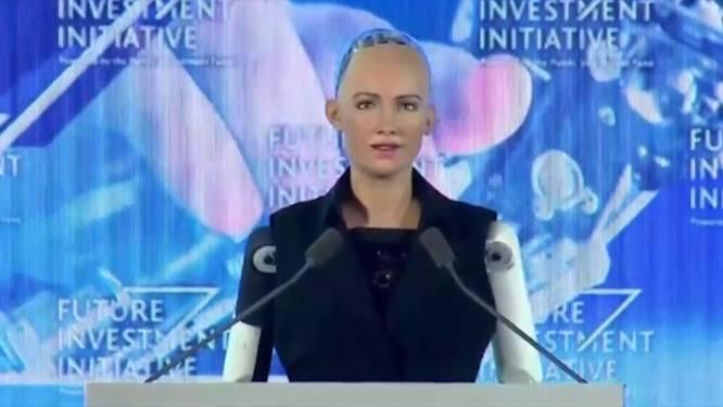 Robot Sophia krijgt burgerrechten in Saoedi-Arabië