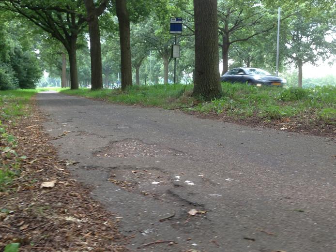 Het fietspad langs de N65 tussen Helvoirt en Vught.