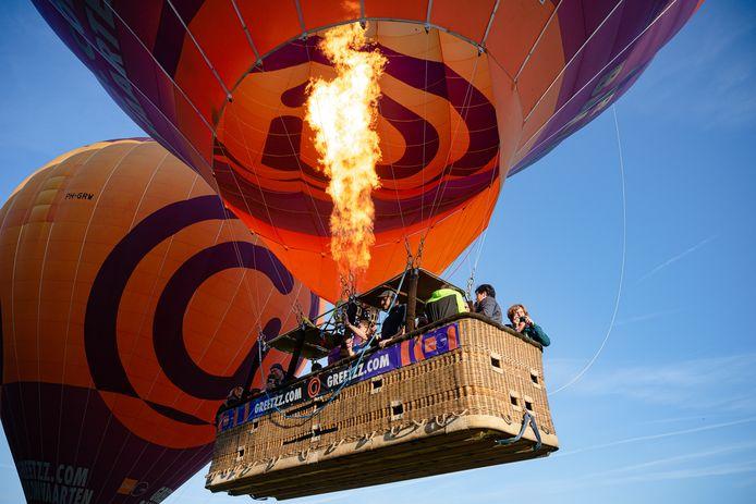Een luchtballon van Greetzz.