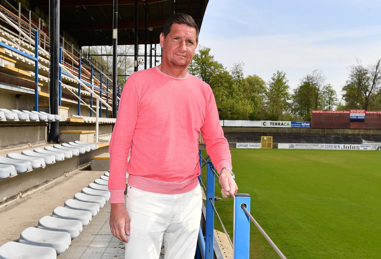 Glen De Boeck in het Gemeentelijk Parkstadion van Rupel Boom waar hij de basis legde voor een mooie profcarrière.