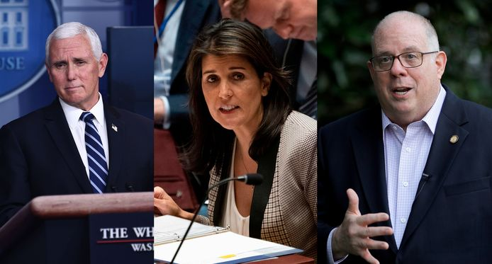 Drie alternatieven voor Trump als presidentskandidaat: Mike Pence, Nikki Haley en Larry Hogan