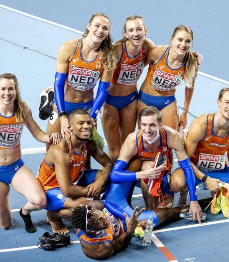 Oranje boven op de estafette: mannen én vrouwen plaatsen zich voor Spelen