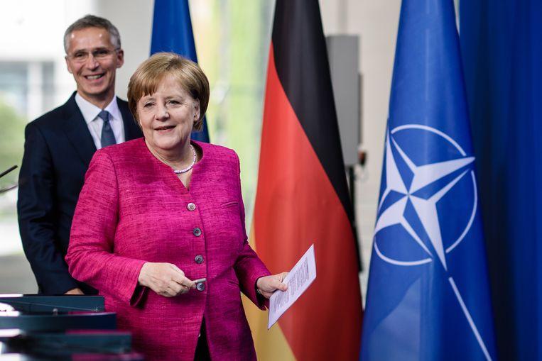 Merkel wil op de Europese top overleggen over een eerlijke verdeling van de vluchtelingen over de deelstaten Beeld EPA