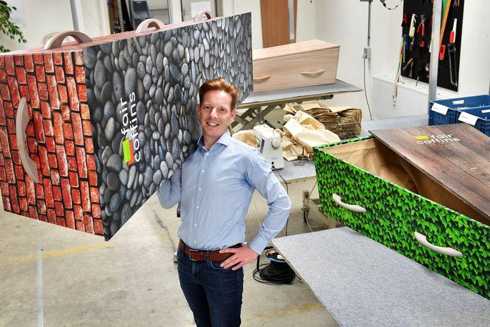 Koen Verlinden van Fair Coffins. Archieffoto