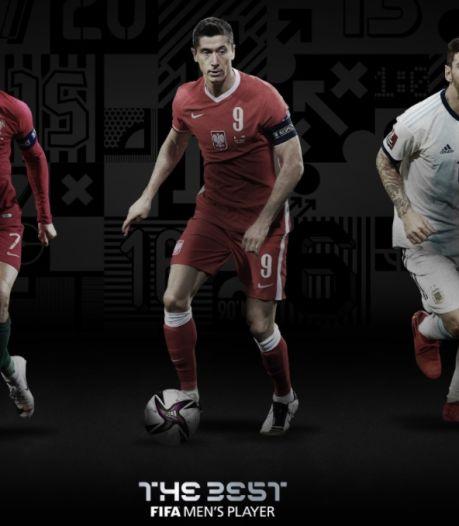 The Best FIFA Football Awards: Cristiano Ronaldo, Robert Lewandowski et Lionel Messi nommés au titre de Joueur de l'année