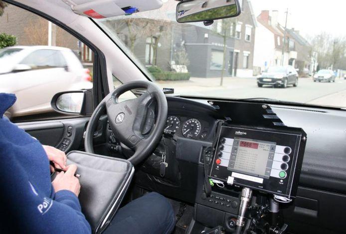 Ook de Gentse politie flitst een hele dag door.