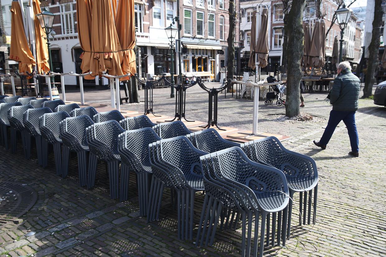 Gesloten horeca in Den Haag. Beeld Arie Kievit / de Volkskrant