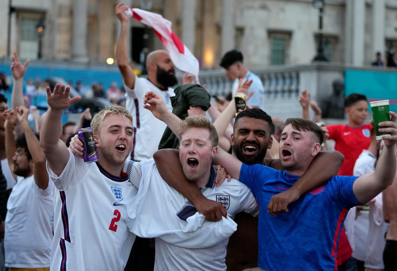 Engeland-fans dit weekend op op Trafalgar Square  Beeld AP