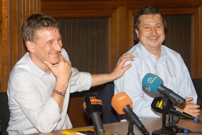 Patrick Janssens en Ludo Van Campenhout zijn goede maatjes na het akkoord van de Vlaamse regering om definitief voor tunnels te kiezen. Maar het leidt wel tot de exit van Van Campenhout uit Open Vld.