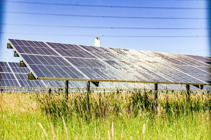 Een zonnepark in Hengelo
