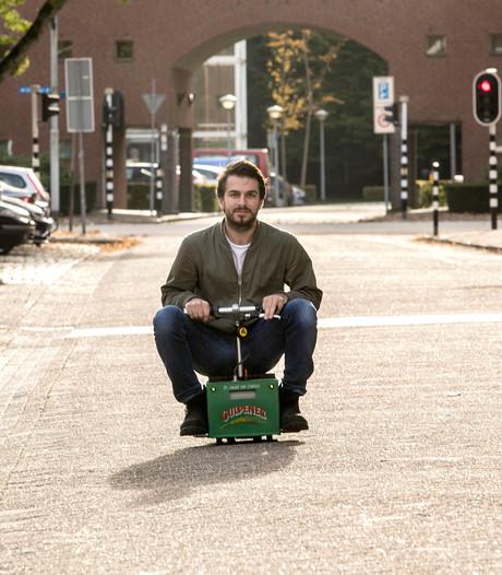 Rijdend bierkratje verbaast Eindhoven en omstreken