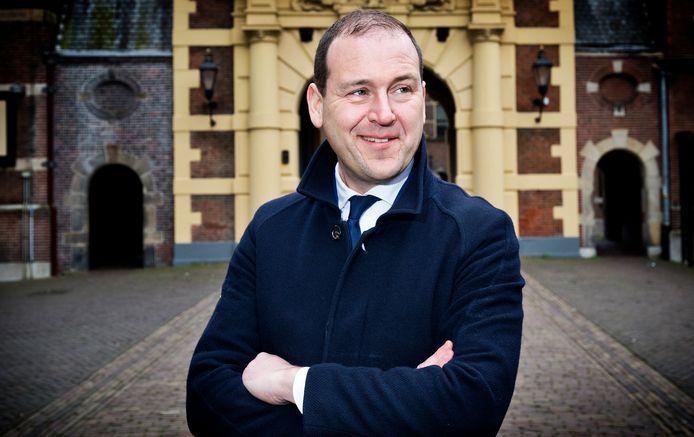 PvdA-leider Lodewijk Asscher op het Binnenhof in Den Haag.