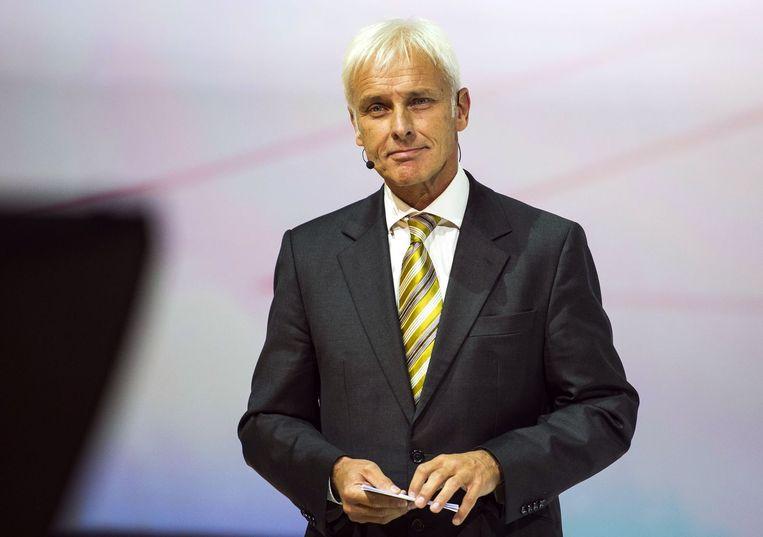 Nieuwe topman bij Volkswagen: Matthias Müller Beeld afp