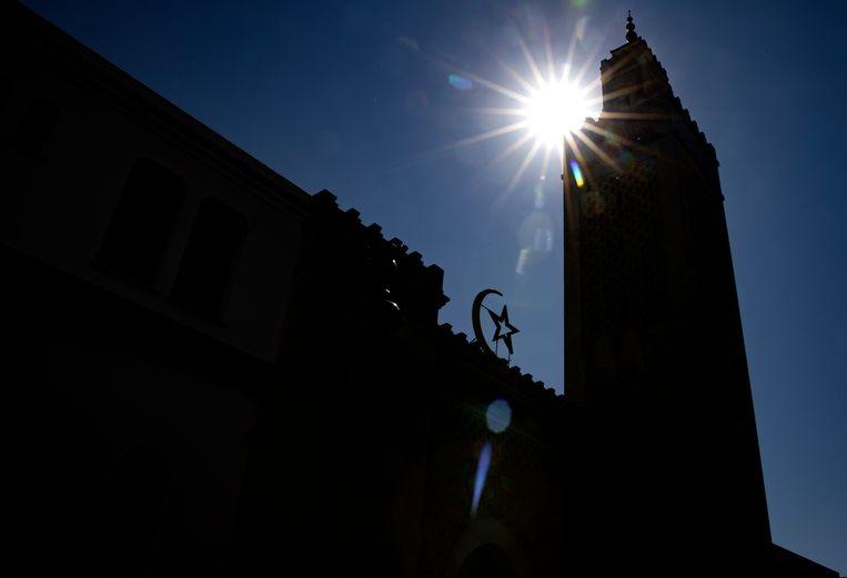 De Grote Moskee in Parijs. Beeld EPA
