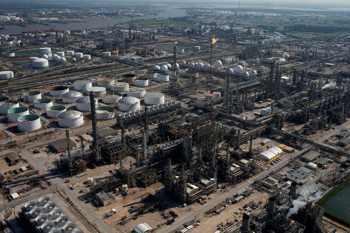Een complex van Shell in het Amerikaanse Texas.