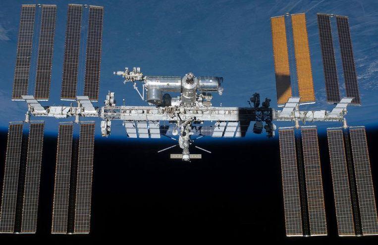 Het ISS-ruimtestation in 2011 Beeld NASA