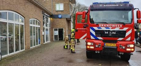 Fietsenwinkel in Wageningen vol mist: mistgenerator gaat af