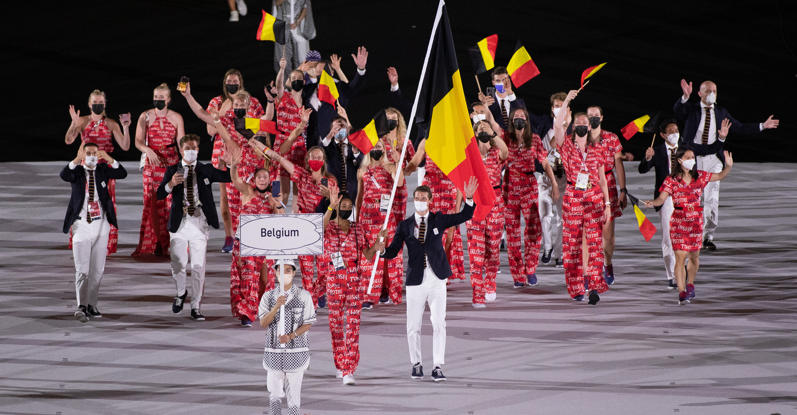 Porte-drapeau de la délégation belge lors de la cérémonie d'ouverture, Nafissatou Thiam débutera son heptathlon le 4 août.
