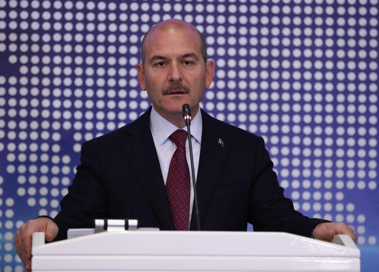 Turks minister van Binnenlandse Zaken Süleyman Soylu. Beeld AFP