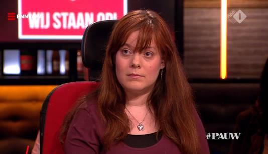 Naast Noortje van Lith zat Amber Bindels in de uitzending van Pauw.