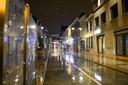 Een lege straat in Den Bosch.