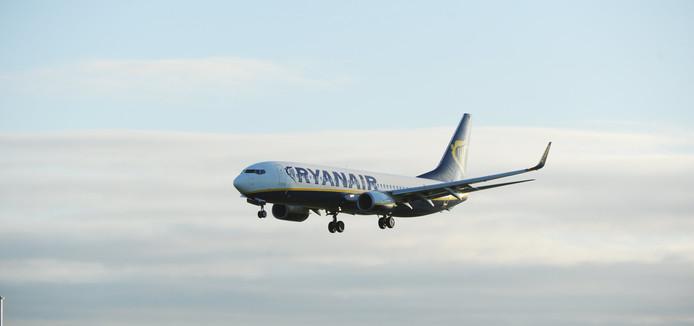 Een vliegtuig van Ryanair.